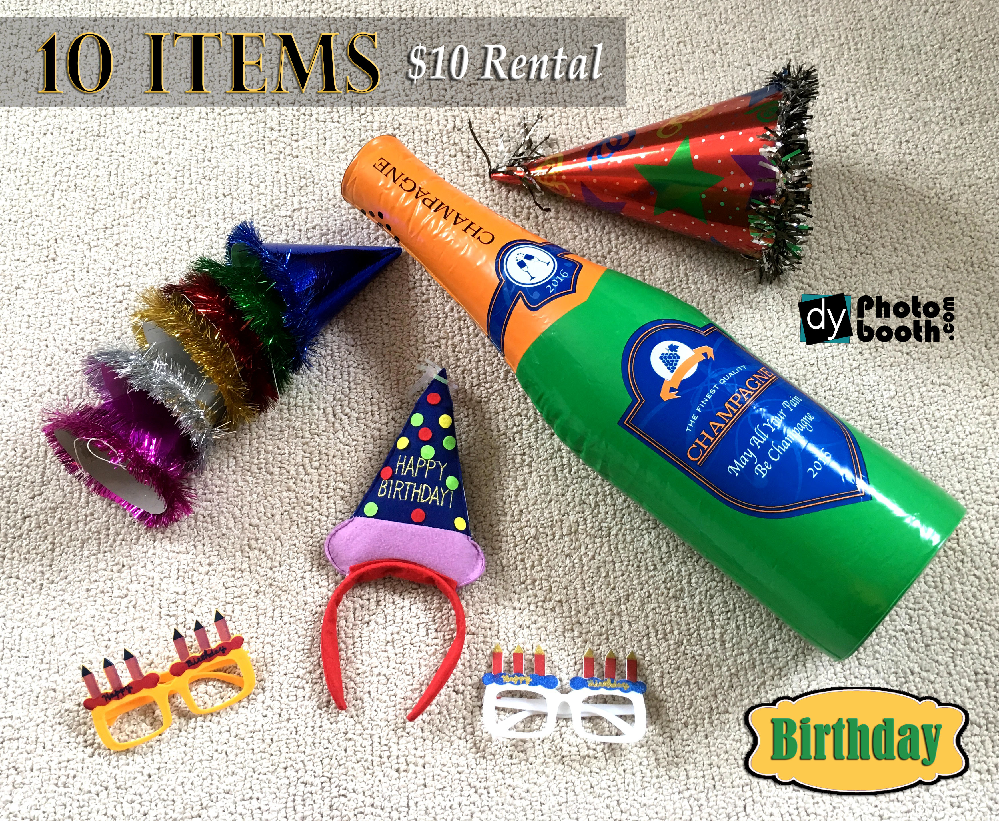 Props Rental Birthday