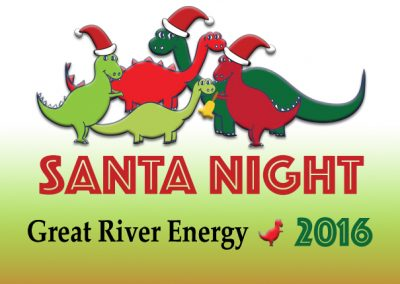 December 8, 2017<br>Great River Energy<br>Dino-Mite Santa Night