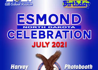 July 9-10, 2021Esmond ND CelebrationHarvey Eagles-sponsor