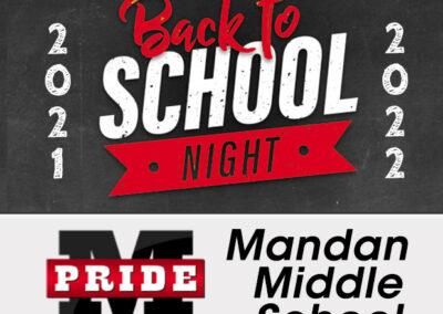 August 24, 2021Mandan Middle SchoolBack to School Night